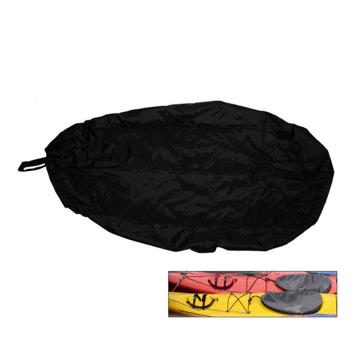 Attwood Universal Fit Kayak Cockpit Cover - Black [11775-5] - point-supplies.myshopify.com