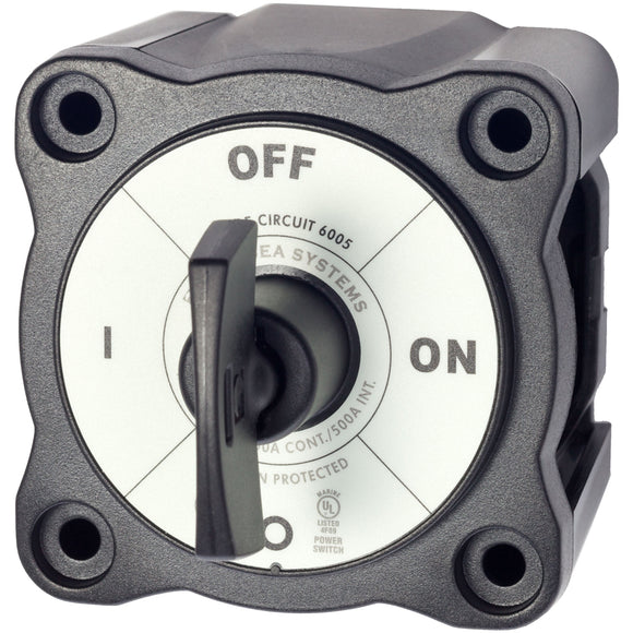 Blue Sea 6005200 Battery Switch Single Circuit ON-OFF - Black [6005200] - Point Supplies Inc.