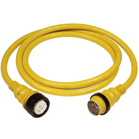 Marinco 50Amp 125/250V Shore Power Cable - 50' - Yellow [6152SPP] - Point Supplies Inc.