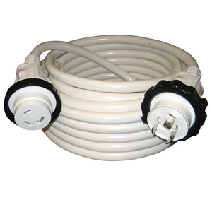 Marinco 30A 125V Molded Standard Cordset - White - 50' [199120] - Point Supplies Inc.