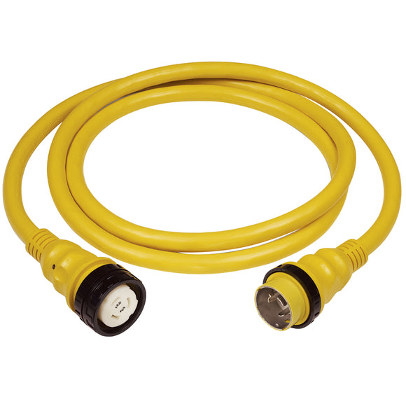 Marinco 50A 125V Shore Power Cable - 25' - Yellow [6153SPP-25] - Point Supplies Inc.
