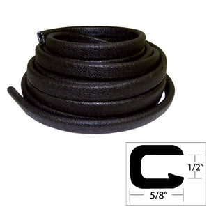 "TACO Flexible Vinyl Trim - 1/2"" Opening x ""W x 25'L - Black [V30-1316B25-1] - Point Supplies Inc."