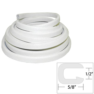 "TACO Flexible Vinyl Trim - 1/2"" Opening x ""W x 25'L - White [V30-1316W25-1] - Point Supplies Inc."