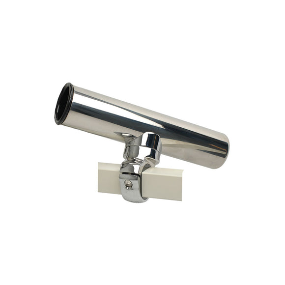 C.E. Smith Pontoon Square Rail Adjustable Clamp-On Rod Holder [55108A] - Point Supplies Inc.