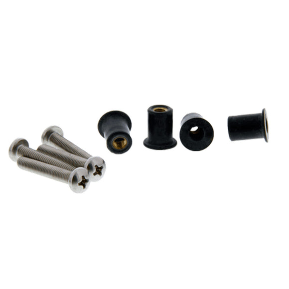 Scotty 133-4 Well Nut Mounting Kit - 4 Pack [133-4] - Point Supplies Inc.