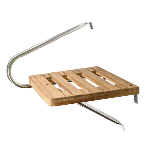 Whitecap Teak Swim Platform f-Outboard Motors [60900]-Whitecap-Point Supplies Inc.