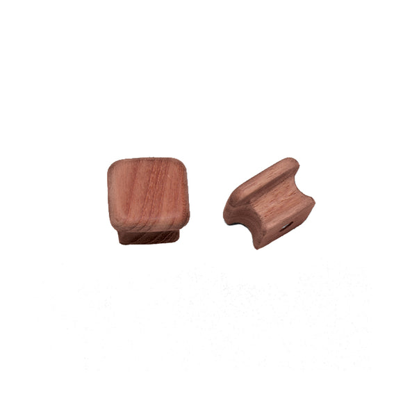 Whitecap Teak Square Drawer Knob - 1-1-8