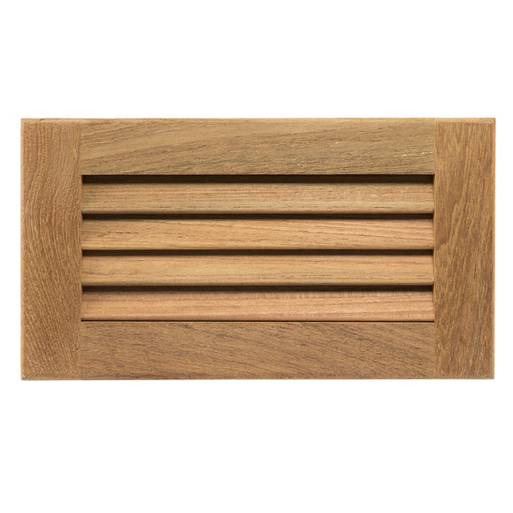 Whitecap Teak Louvered Insert - 6-3-8