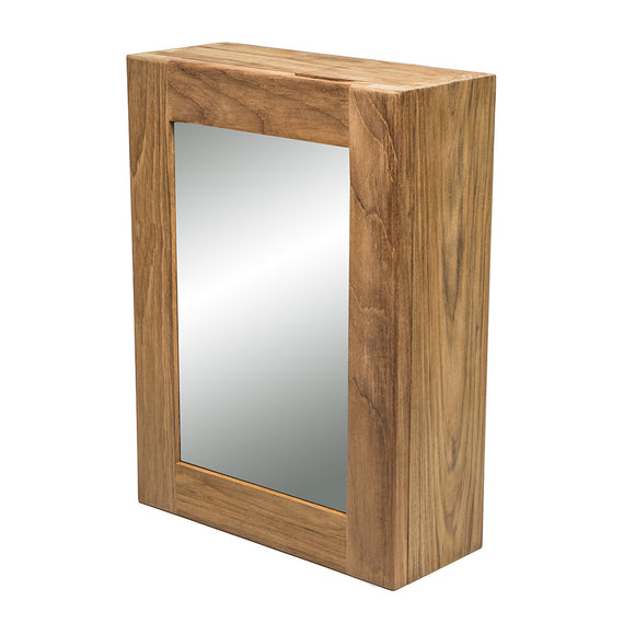 Whitecap Teak Medicine Chest w-Mirror [62354] - point-supplies.myshopify.com