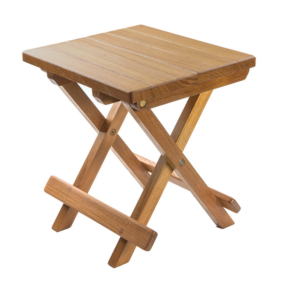 Whitecap Teak Grooved Top Fold-Away Table-Stool [60034] - point-supplies.myshopify.com