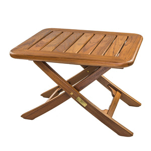 Whitecap Teak Small Adjustable Slat Top Table [60028] - point-supplies.myshopify.com