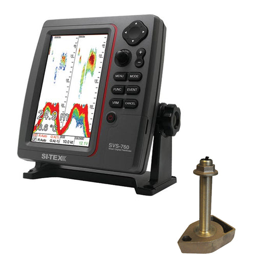 SI-TEX SVS-760 Dual Frequency Sounder 600W Kit w-Bronze Thru-Hull Temp Transducer - 1700-50-200T-CX [SVS-760TH] - point-supplies.myshopify.com