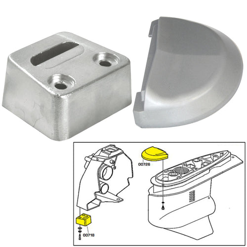 Tecnoseal Anode Kit w-Hardware - Volvo SX - Zinc [20708]-Tecnoseal-Point Supplies Inc.