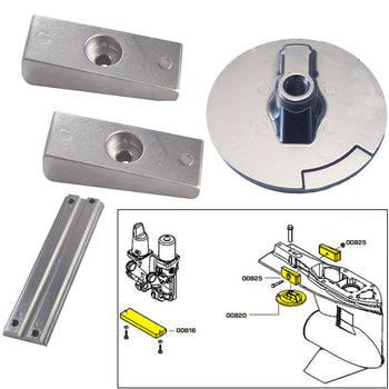 Tecnoseal Anode Kit w-Hardware - Mercury Verado 4 - Zinc [20814]-Tecnoseal-Point Supplies Inc.