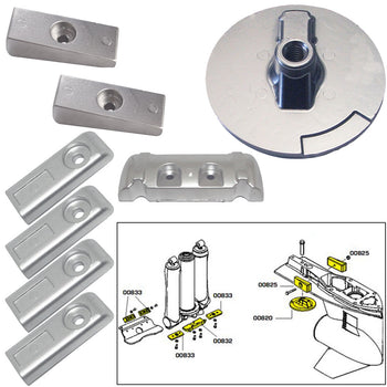 Tecnoseal Anode Kit w-Hardware - Mercury Verado 6 - Aluminum [20816AL]-Tecnoseal-Point Supplies Inc.
