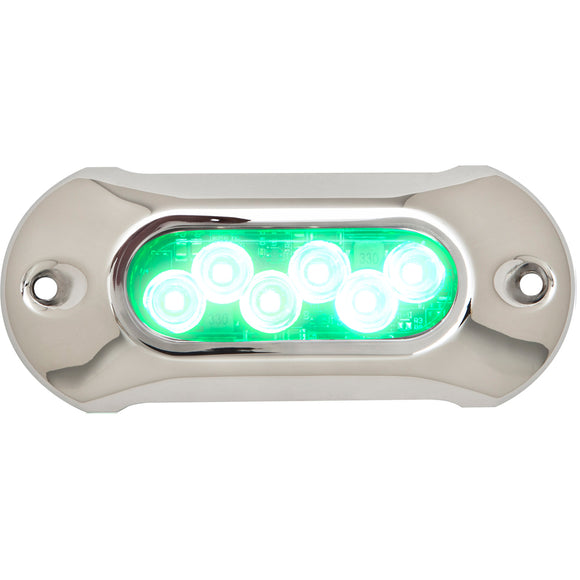 Attwood Light Armor Underwater LED Light - 6 LEDs - Green [65UW06G-7] - Point Supplies Inc.