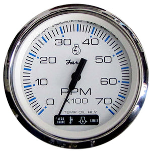 "Faria Chesapeake White SS 4"" Tachometer w/Suzuki Monitor - 7,000 RPM (Gas - Suzuki Outboard) [33860] - Point Supplies Inc."