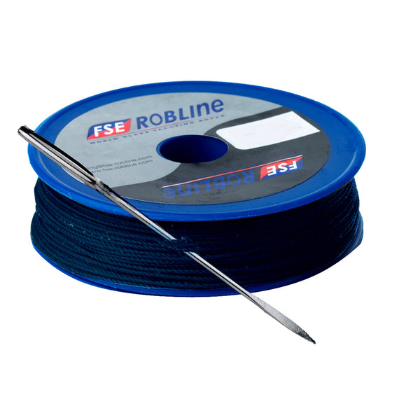 Robline Waxed Tackle Yarn Whipping Twine Kit w/Needle - Dark Navy Blue - 0.8mm x 40M [TY-KITBLU] - Point Supplies Inc.