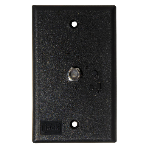 KING Jack PB1001 TV Antenna Power Injector Switch Plate - Black [PB1001] - point-supplies.myshopify.com