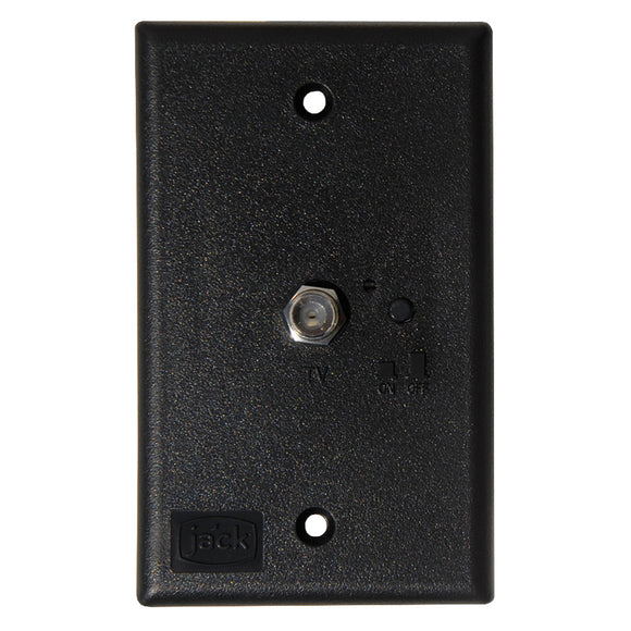 KING Jack PB1001 TV Antenna Power Injector Switch Plate - Black [PB1001] - Point Supplies Inc.