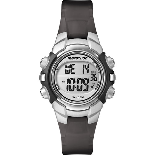 Timex Marathon Digital Mid-Size Watch - Black-Silver [T5K805]-Timex-Point Supplies Inc.