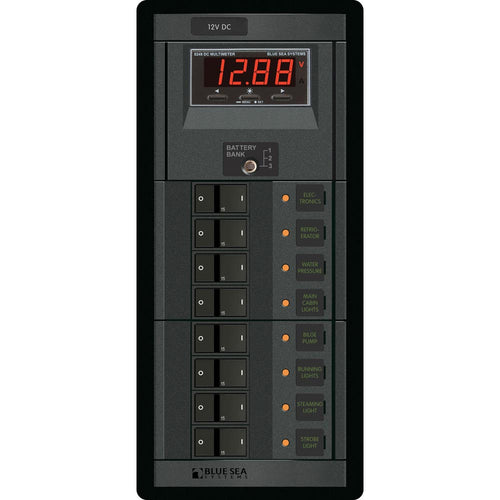 Blue Sea 1227 12V DC 8 Position w-Digital Meter [1227]-Blue Sea Systems-Point Supplies Inc.