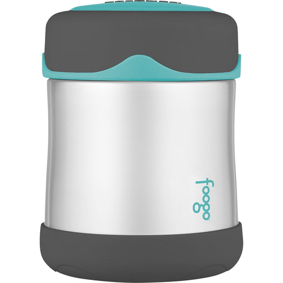 Thermos Foogo Stainless Steel, Vacuum Insulated Food Jar - Teal/Smoke - 10 oz. [B3004TS2] - Point Supplies Inc.