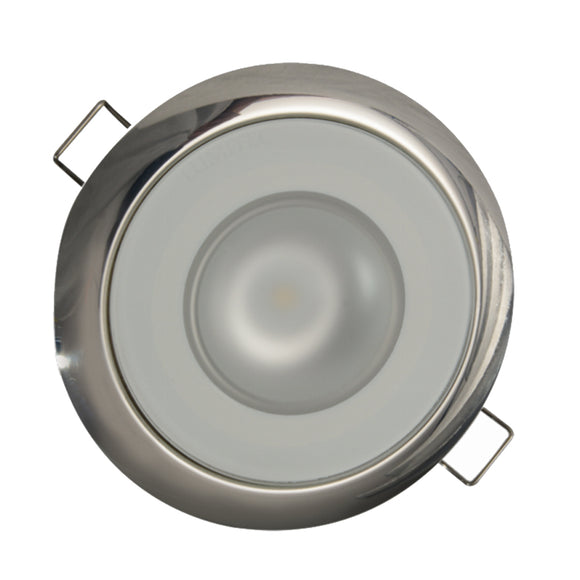 Lumitec Mirage Flush Mount Down Light Spectrum RGBW - Polished Bezel [113117] - Point Supplies Inc.