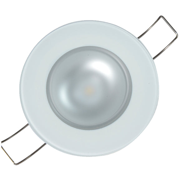 Lumitec Mirage Flush Mount Down Light Spectrum RGBW - Glass Bezel [113197] - Point Supplies Inc.