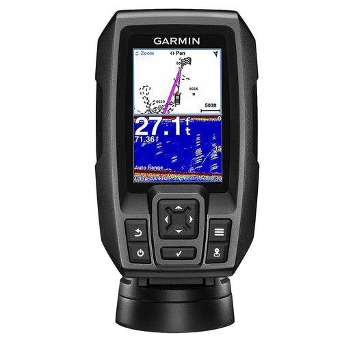 Garmin STRIKER 4 FishFinder w-4-Pin, 77-200kHz TM Transducer [010-01550-00] - point-supplies.myshopify.com