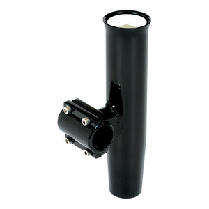 "Lee's Clamp-On Rod Holder - Black Aluminum - Horizontal Mount - Fits 1.315"" O.D. Pipe [RA5202BK] - Point Supplies Inc."