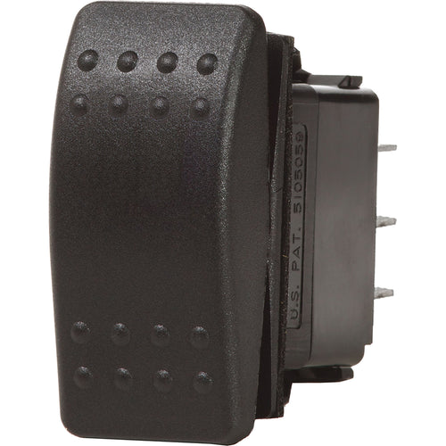 Blue Sea 7933 Contura II Switch SPDT Black - (ON)-OFF-(ON) [7933]-Blue Sea Systems-Point Supplies Inc.