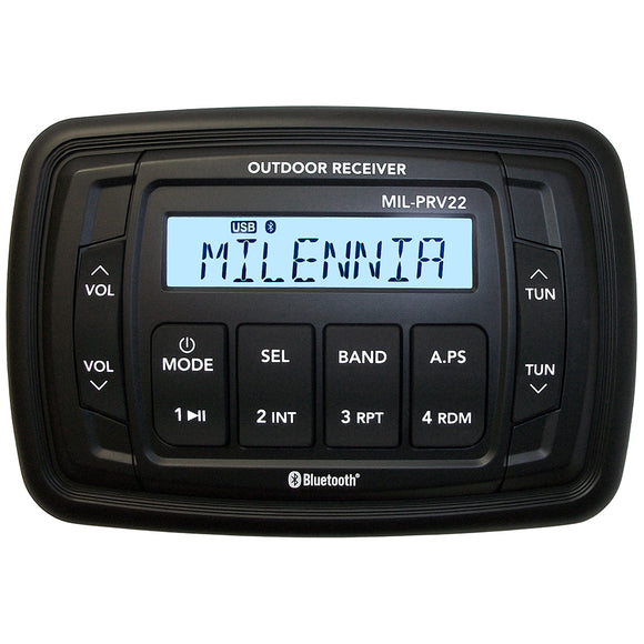 Milennia PRV22 AM/FM/USB/BT 4x45W Stereo [MILPRV22] - Point Supplies Inc.