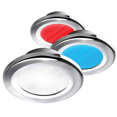 i2Systems Apeiron A3120 Screw Mount Light - Red, Cool White & Blue - Brushed Nickel Finish [A3120Z-41HAE]-I2Systems Inc-Point Supplies Inc.