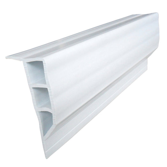 Dock Edge Standard PVC Full Face Profile - 16' Roll - White [1160-F] - Point Supplies Inc.