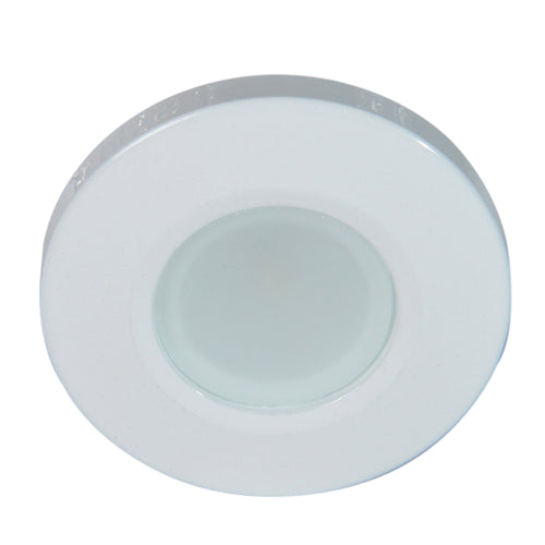 Lumitec Orbit Flush Mount Down Light - Blue Non-Dimming, Red Non-Dimming White Dimming w-White Housing [112528]-Lumitec-Point Supplies Inc.