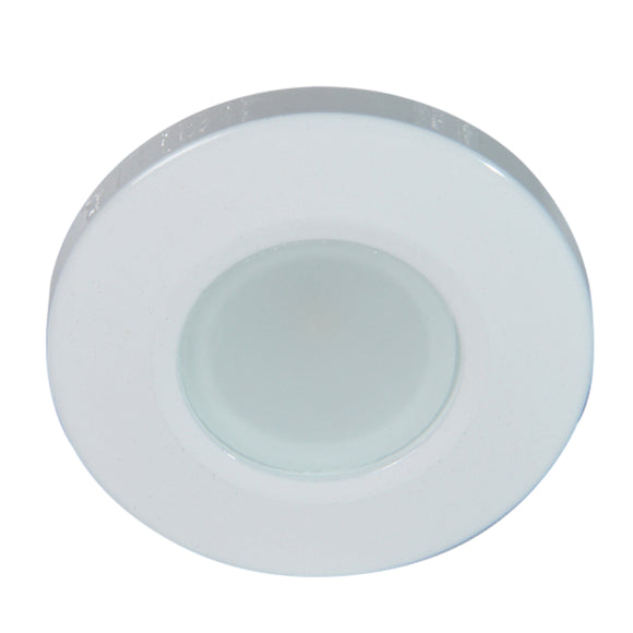 Lumitec Orbit Flush Mount Down Light - Blue Non-Dimming, Red Non-Dimming  White Dimming w/White Housing [112528] - Point Supplies Inc.