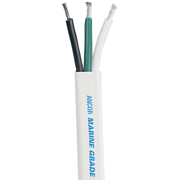 Ancor White Triplex Cable - 16/3 AWG - Flat - 100' [131710] - Point Supplies Inc.