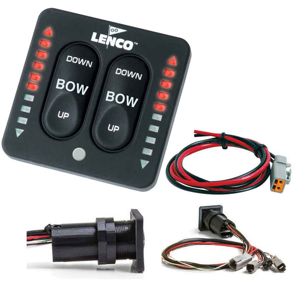 Lenco LED Indicator Integrated Tactile Switch Kit w/Pigtail f/Single Actuator Systems [15170-001] - Point Supplies Inc.