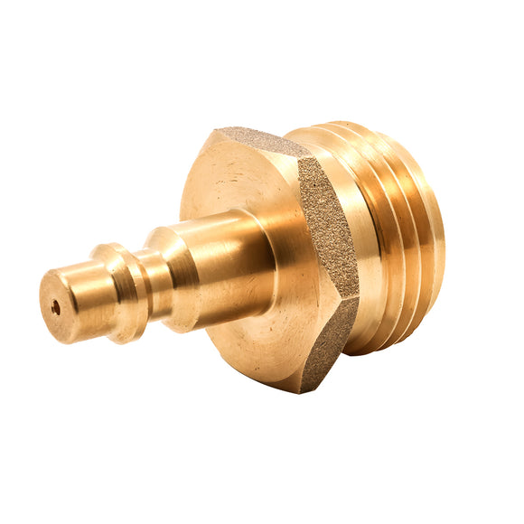 Camco Blow Out Plug - Brass - Quick-Connect Style [36143] - Point Supplies Inc.