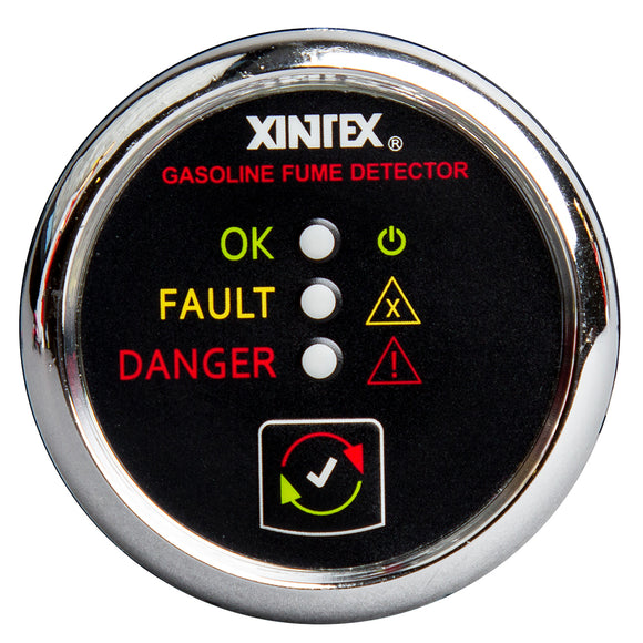 Xintex Gasoline Fume Detector & Alarm w-Plastic Sensor - Chrome Bezel Display [G-1C-R] - point-supplies.myshopify.com