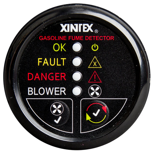 Xintex Gasoline Fume Detector & Blower Control w-Plastic Sensor - Black Bezel Display [G-1BB-R]-Fireboy-Xintex-Point Supplies Inc.