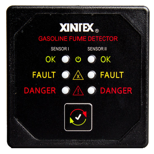 Xintex Gasoline Fume Detector w-2 Plastic Sensors - Black Bezel Display [G-2B-R]-Fireboy-Xintex-Point Supplies Inc.