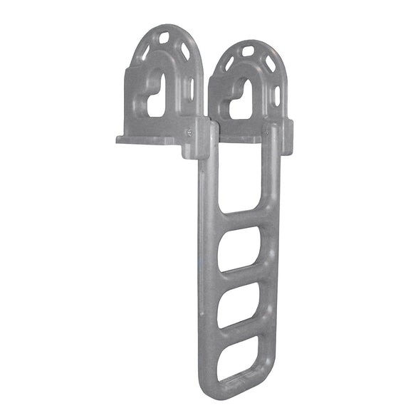 Dock Edge Flip-Up Polyethylene Roto Molded 4-Step Dock Ladder - Grey [2064-F] - Point Supplies Inc.