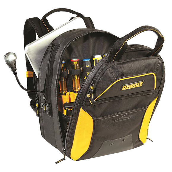 CLC DGCL33 DEWALT 33 Pocket Lighted USB Charging Tool Backpack [DGCL33] - Point Supplies Inc.