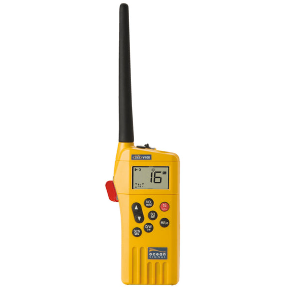 Ocean Signal SafeSea V100 GMDSS VHF Radio - 21 Channels [720S-00585] - Point Supplies Inc.