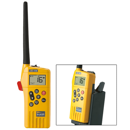Ocean Signal SafeSea V100 GMDSS VHF Radio - 21 Channels w-Battery Kit [720S-00614]-Ocean Signal-Point Supplies Inc.