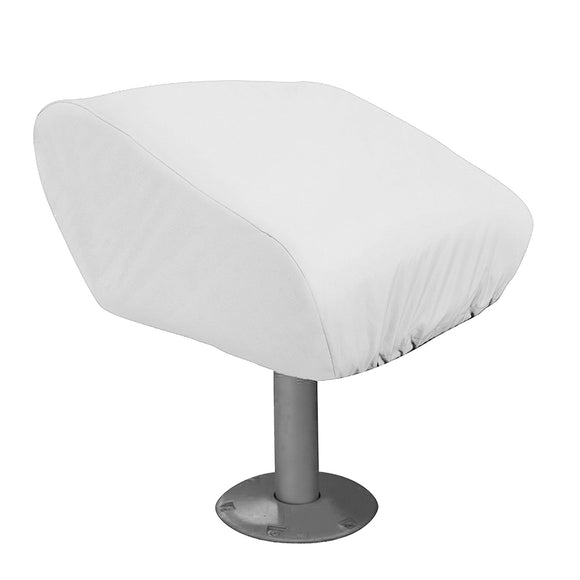 Taylor Made Folding Pedestal Boat Seat Cover - Vinyl White [40220] - Point Supplies Inc.