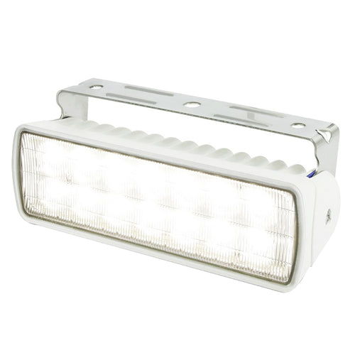 Hella Marine Sea Hawk-XLR LED Floodlight - White LED-White Housing [980740011] - point-supplies.myshopify.com