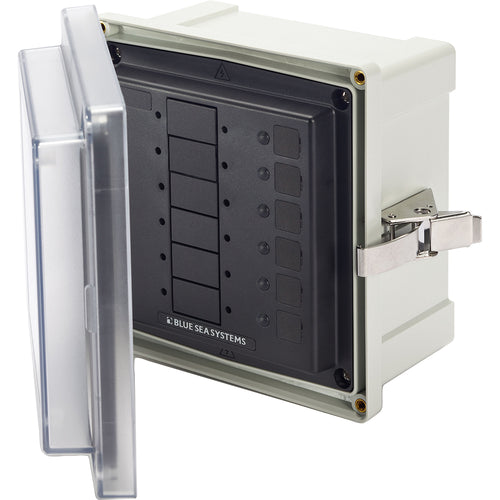 Blue Sea 3113 SMS Surface Mount System Panel Enclosure - 6 Circuit Blank [3113]-Blue Sea Systems-Point Supplies Inc.